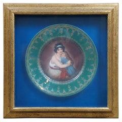 Antique Hutschenreuther Royal Vienna Porcelain Portrait Plate Le Brun Beehive
