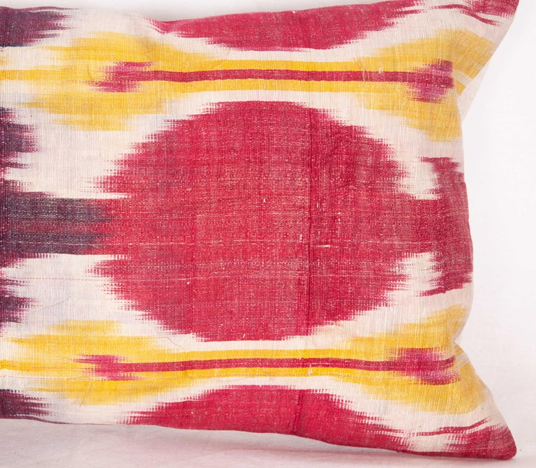 Antique Ikat Lumbar Pillow Cases Made from a 19th Century Ikat For Sale 4