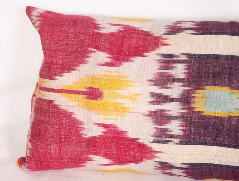 Antique Ikat Lumbar Pillow Cases Made from a 19th Century Ikat For Sale 6