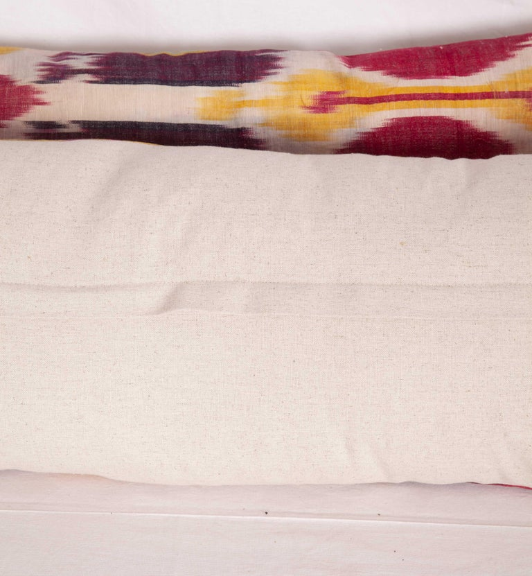 Antique Ikat Lumbar Pillow Cases Made from a 19th Century Ikat For Sale 7