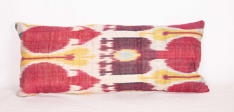 Antique Ikat Lumbar Pillow Cases Made from a 19th Century Ikat In Good Condition For Sale In Istanbul, TR