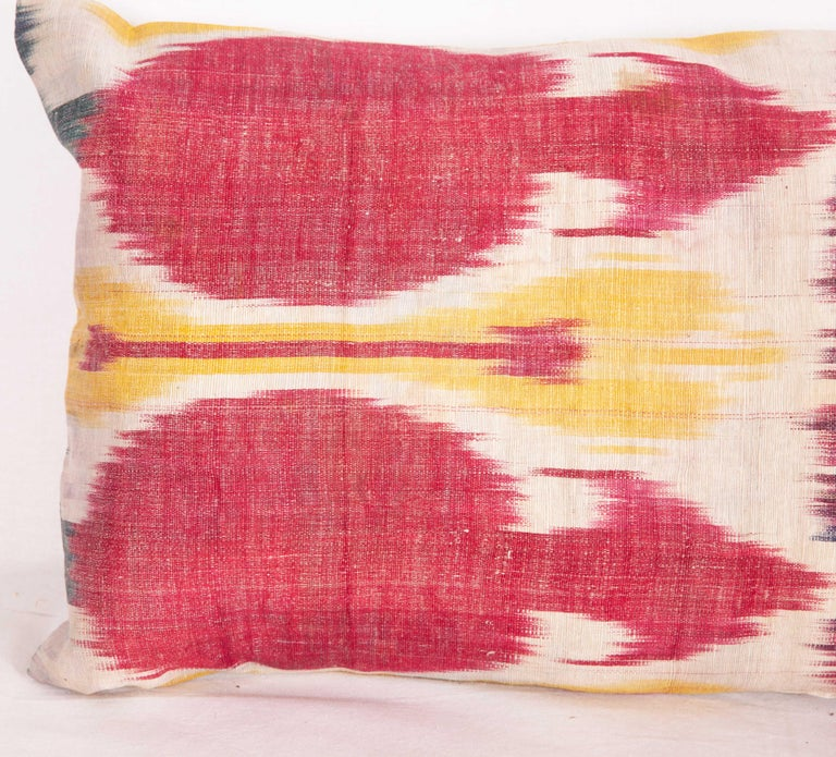 Silk Antique Ikat Lumbar Pillow Cases Made from a 19th Century Ikat For Sale