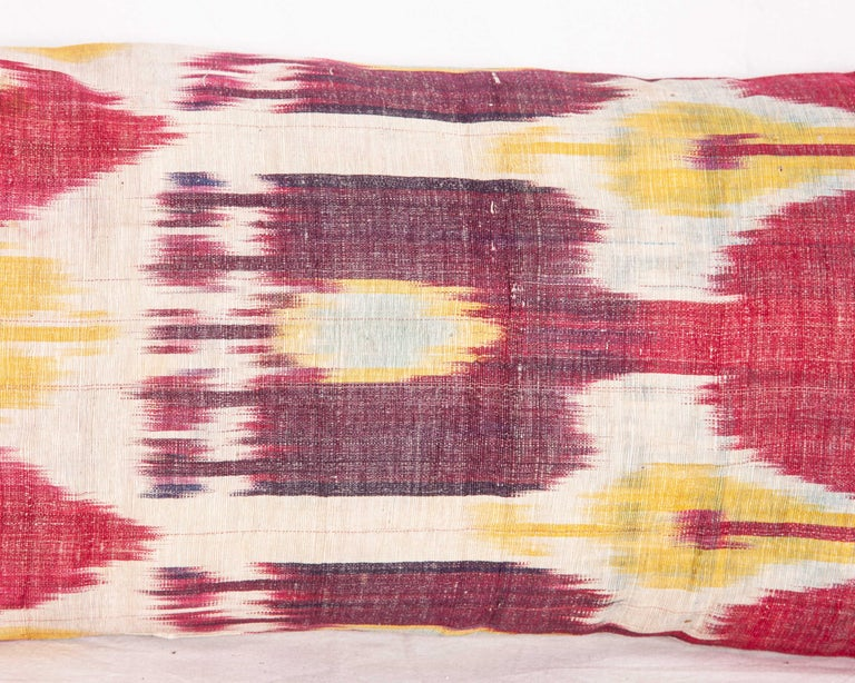 Antique Ikat Lumbar Pillow Cases Made from a 19th Century Ikat For Sale 1