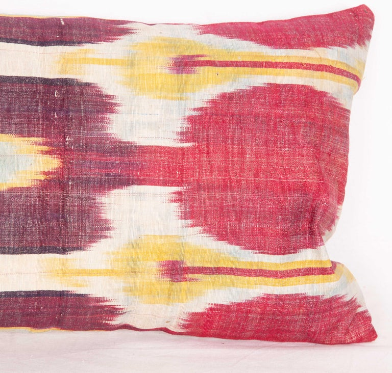 Antique Ikat Lumbar Pillow Cases Made from a 19th Century Ikat For Sale 2