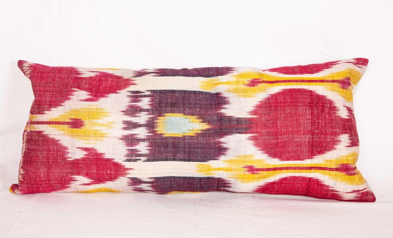 Antique Ikat Lumbar Pillow Cases Made from a 19th Century Ikat For Sale 3