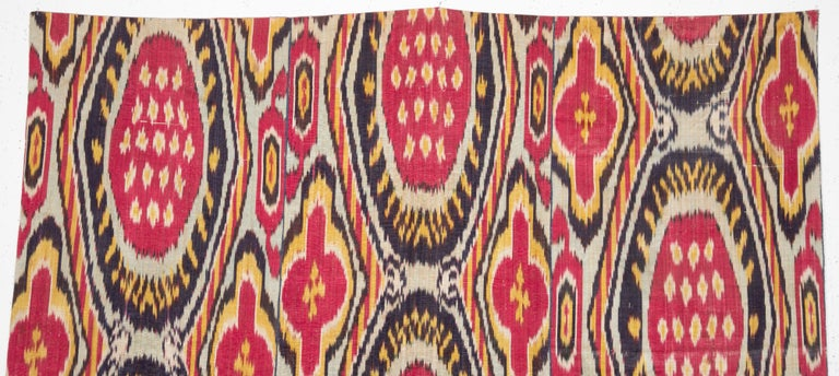 Islamic Antique Ikat Panel from Uzbekistan, 1860s For Sale