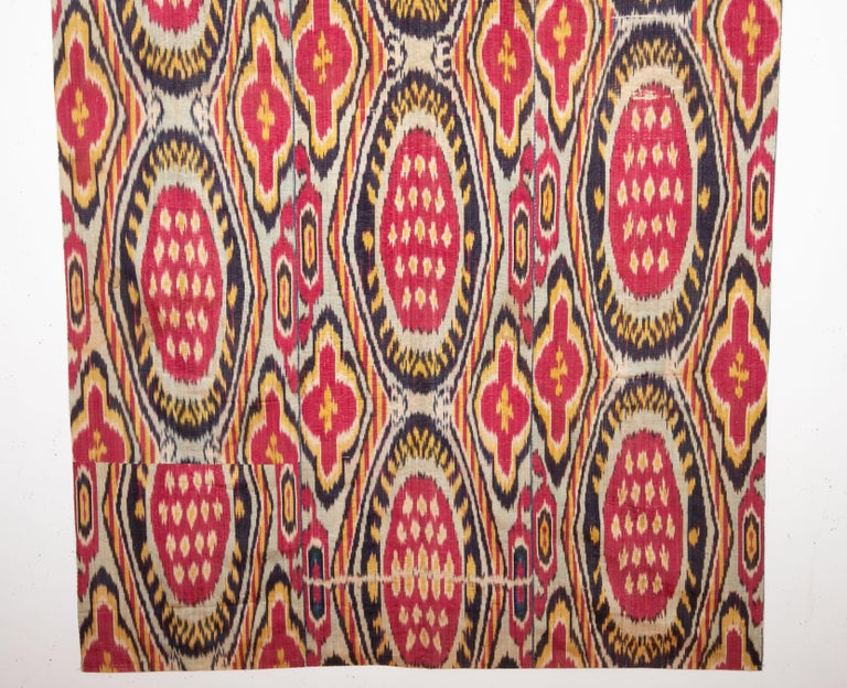 Antique Ikat Panel from Uzbekistan, 1860s In Good Condition For Sale In Istanbul, TR