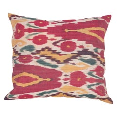Antique Ikat Pillow Case Fashioned from a 19th Century Ikat Panel