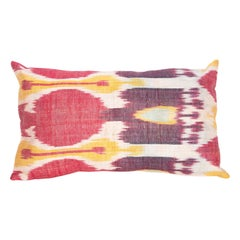 Antique Ikat Pillow Case Made from a 19th Century Uzbek Ikat