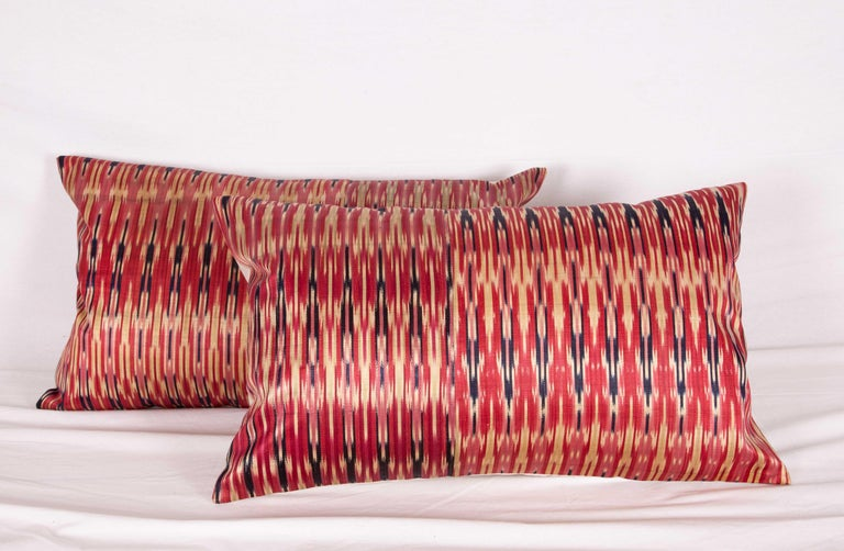 Antique Ikat Pillow Cases Fashioned from a 19th Century Syrian Ikat In Good Condition For Sale In Istanbul, TR