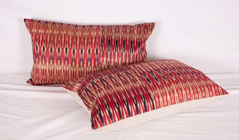 Antique Ikat Pillow Cases Fashioned from a 19th Century Syrian Ikat For Sale 1