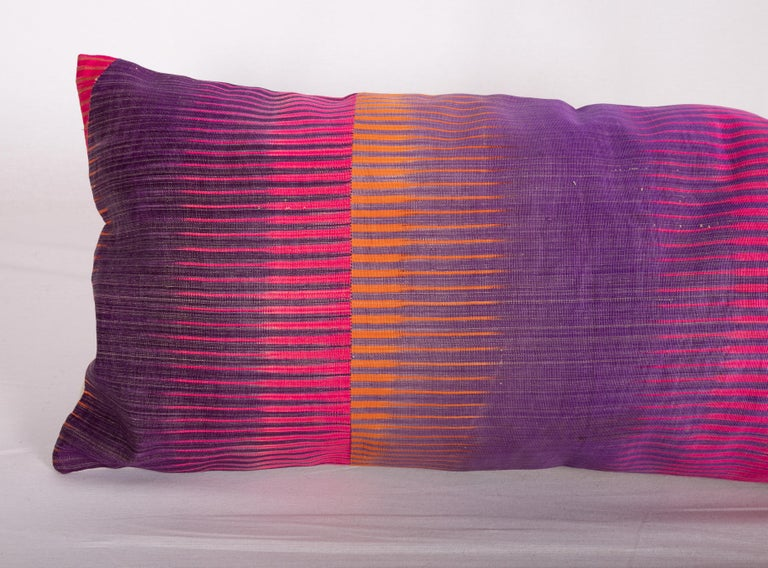 Antique Ikat Pillow Cases Made from an Ikat Shirt Sleeves, Early 20th Century For Sale 1