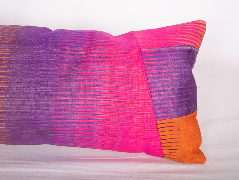 Antique Ikat Pillow Cases Made from an Ikat Shirt Sleeves, Early 20th Century For Sale 2