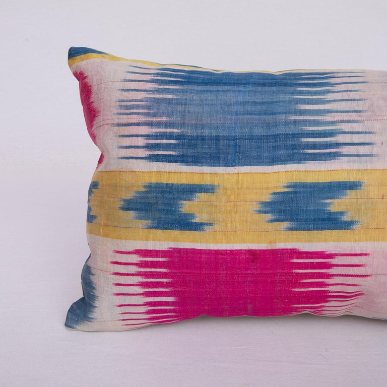 Tribal Antique Ikat Pillowcase /Cushion Cover from Uzbekistan, 1900s For Sale