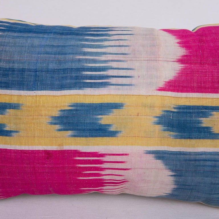 20th Century Antique Ikat Pillowcase /Cushion Cover from Uzbekistan, 1900s For Sale