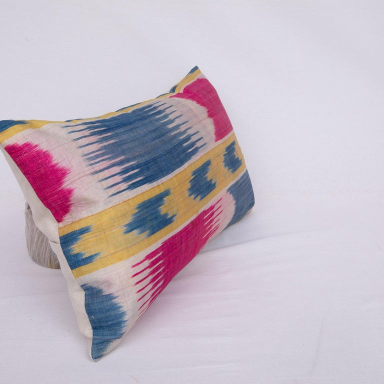 Antique Ikat Pillowcase /Cushion Cover from Uzbekistan, 1900s For Sale 1