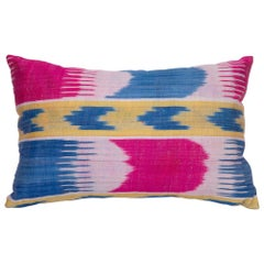 Antique Ikat Pillowcase /Cushion Cover from Uzbekistan, 1900s