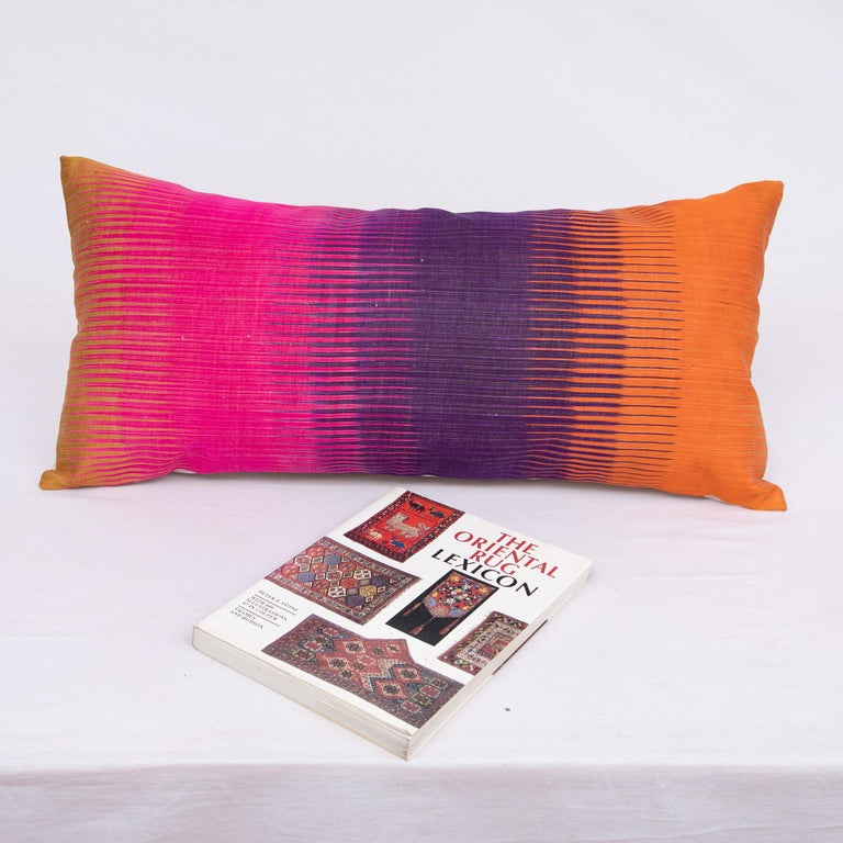 20th Century Antique Ikat Pillowcase /Cushion Cover from Uzbekistan, 1910s For Sale