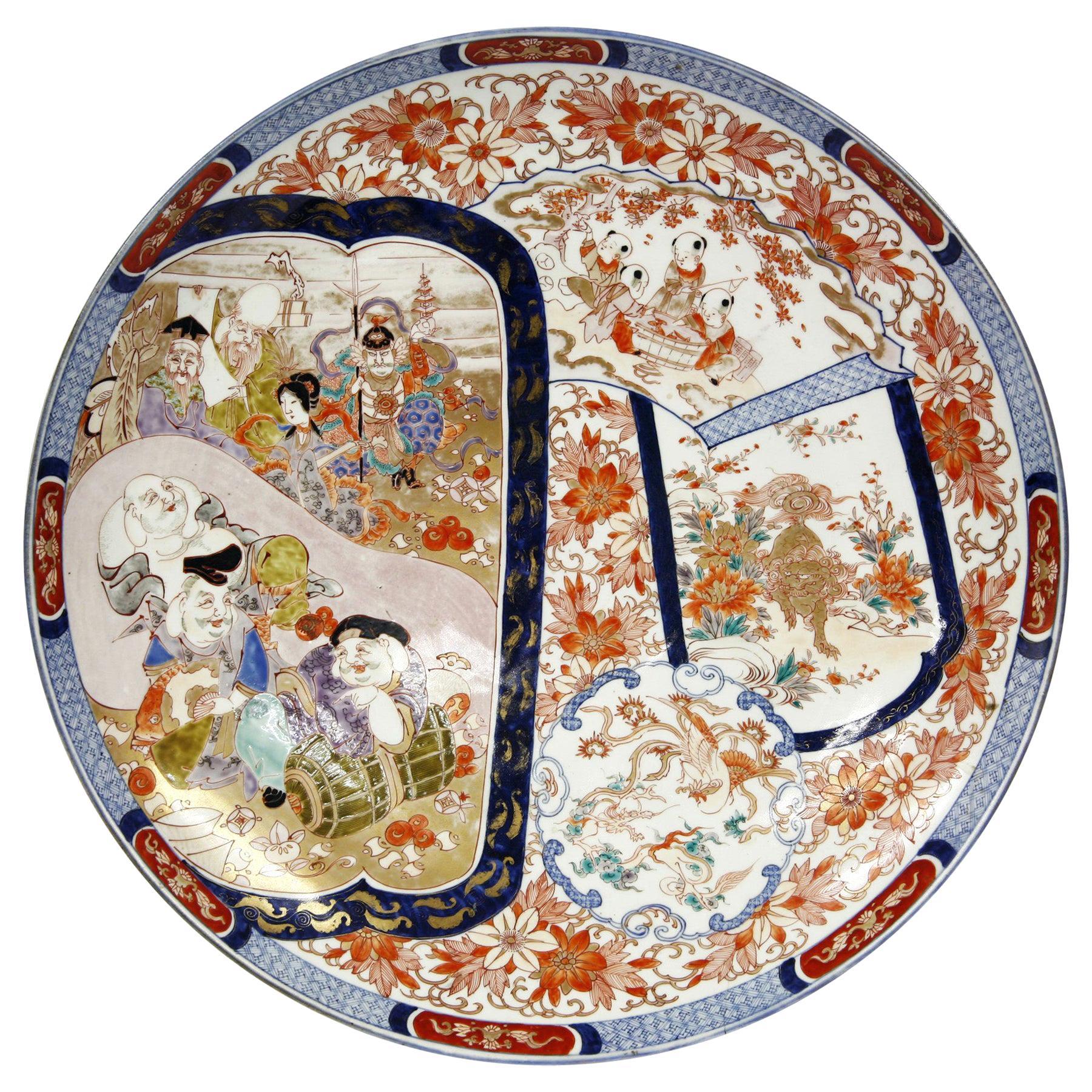 Antique Imari Porcelain Dish of Massive