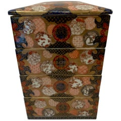 Antique Imari Porcelain Stack Box