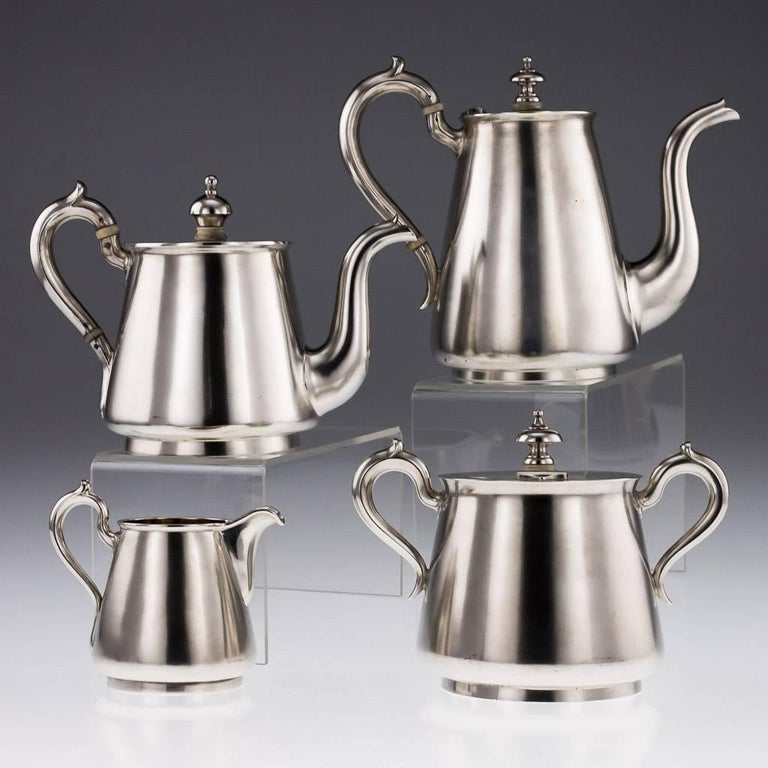 Antique Imperial Russian Solid Silver Matched Tea and Coffee Set circa 1872-1879 In Good Condition For Sale In London, London