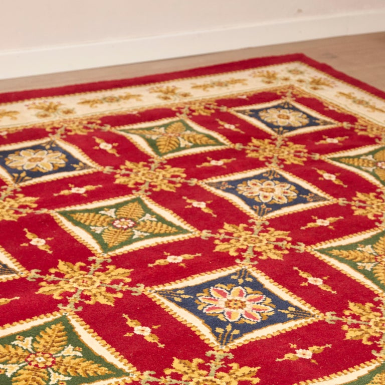 Antique Imperio rug made in Spain, circa 1970  Hand knotted wool  Measures: 265 x 315 cm.