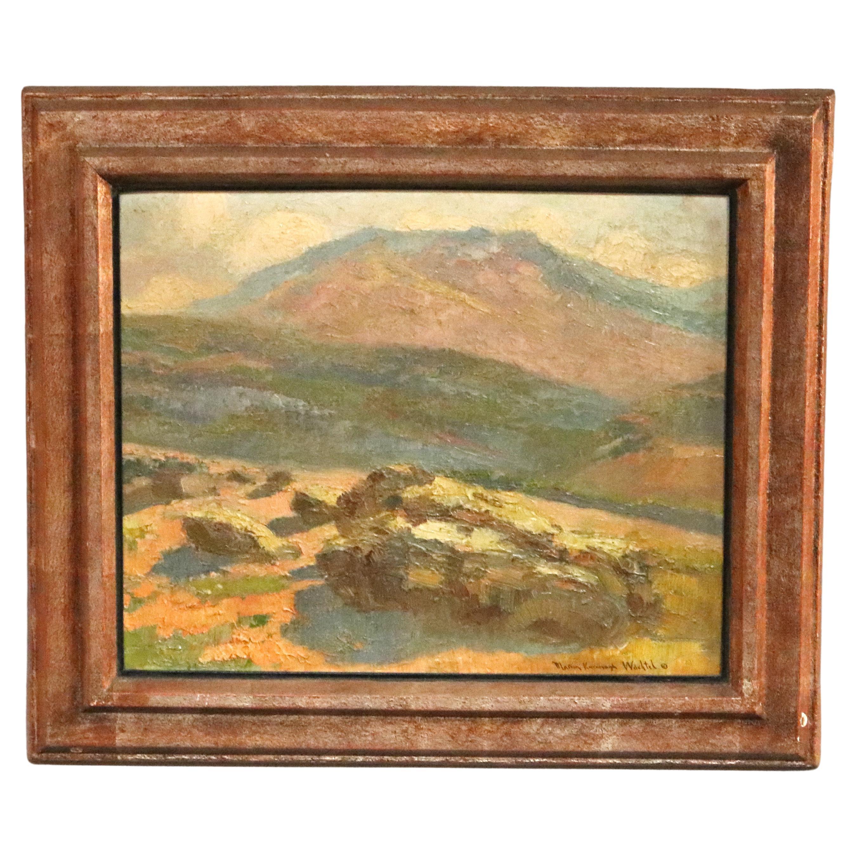 Antique Impressionist Ca Landscape Painting Signed Marion Kavanagh Wachtel c1930
