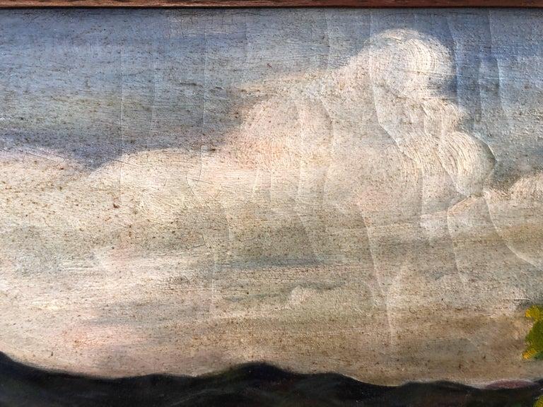 Antique Impressionist Landscape Oil on Canvas For Sale 5