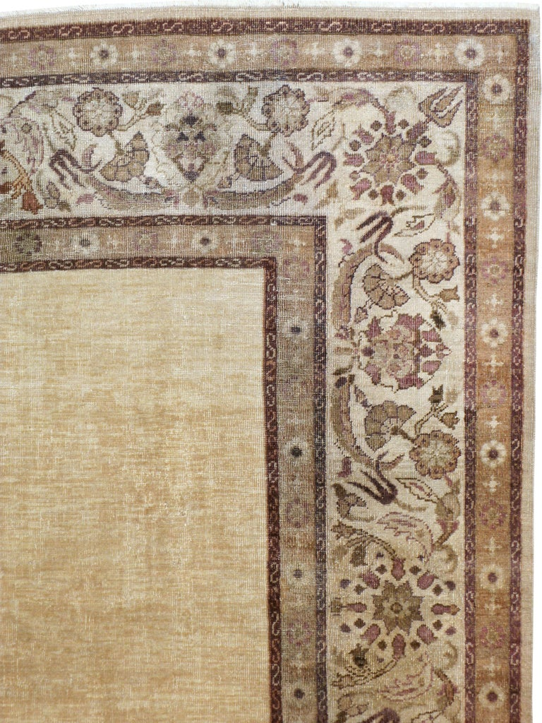 Hand-Knotted Antique Indian Agra Carpet For Sale