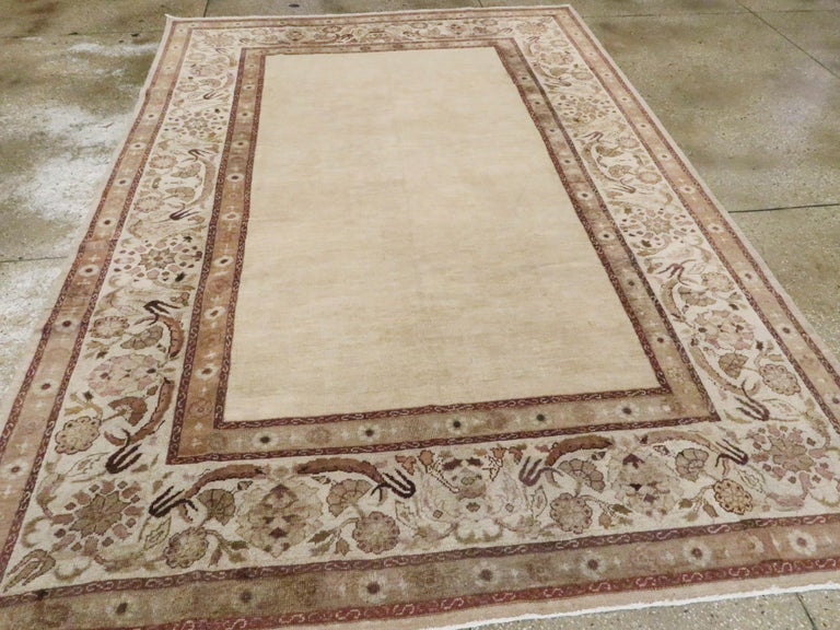 20th Century Antique Indian Agra Carpet For Sale