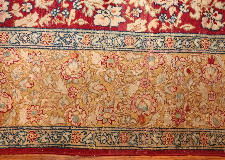 Antique Indian Agra Carpet. Size: 5 ft x 7 ft 7 in (1.52 m x 2.31 m) For Sale 1