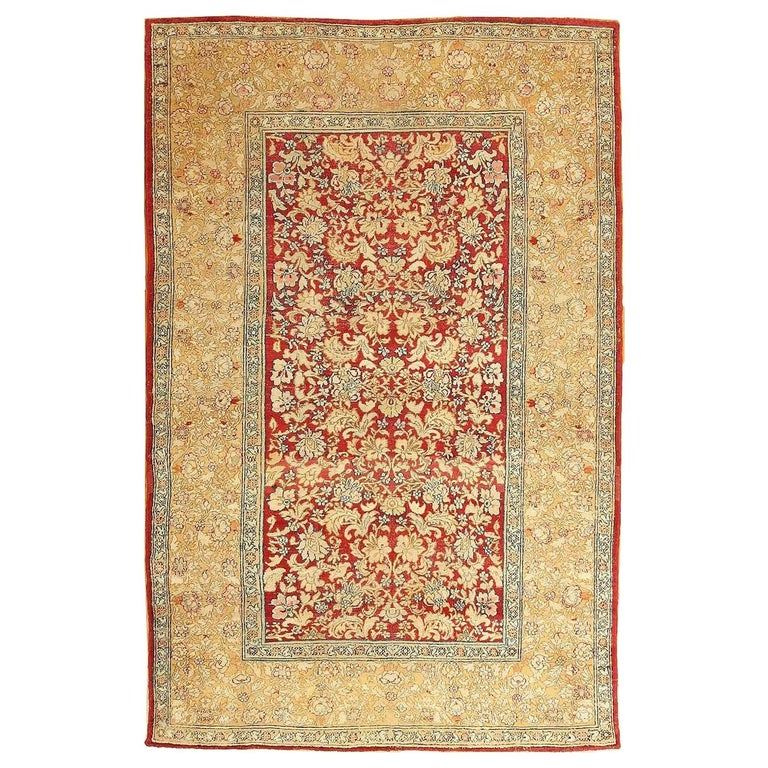 Antique Indian Agra Carpet. Size: 5 ft x 7 ft 7 in (1.52 m x 2.31 m) For Sale