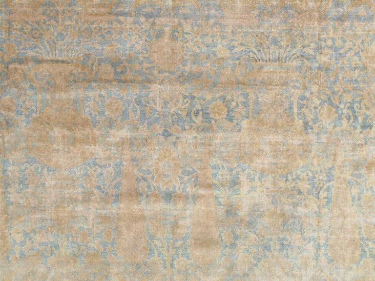 Agra carpets are the most highly sought after of the 19th century antique Indian rugs today. Agra rugs were extremely well made heavy durable rugs and are considered the best of Indian rugs in the post-Mughal period.