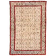 Antique Indian Agra Carpet, Ivory Field