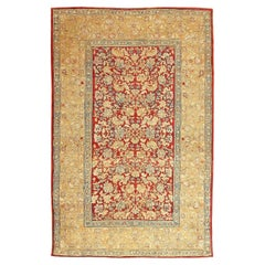 Antique Indian Agra Carpet. Size: 5 ft x 7 ft 7 in (1.52 m x 2.31 m)