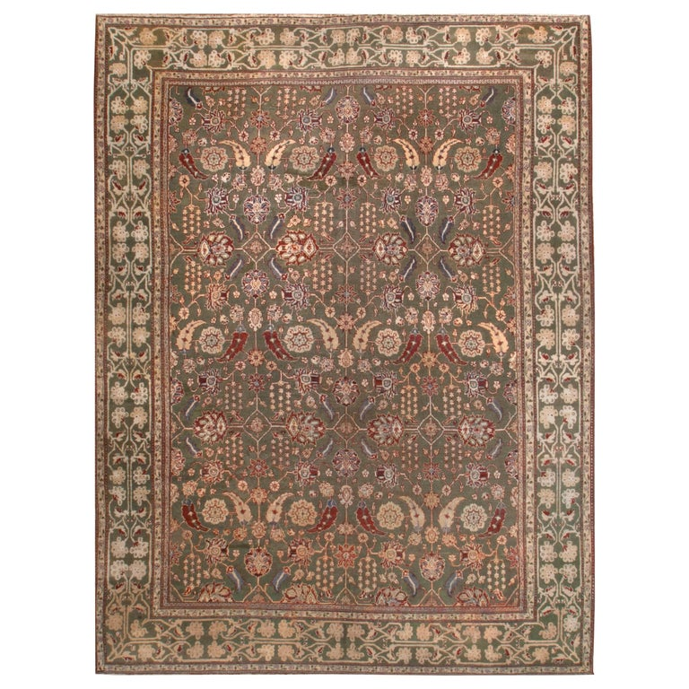 Antique Indian Agra Rug, Circa 1890 For Sale At 1stdibs