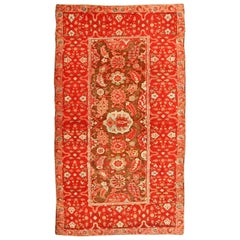 Antique Indian Agra Rug. Size: 4 ft 1 in x 7 ft 3 in (1.24 m x 2.21 m)