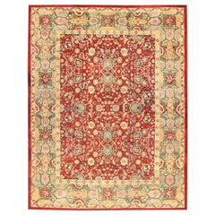 Antique Indian Agra Rug. Size: 13 ft 6 in x 17 ft 5 in (4.11 m x 5.31 m)
