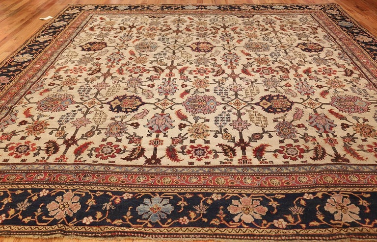 Antique Indian Agra Rug. Size: 11 ft 5 in x 11 ft 5 in (3.48 m x 3.48 m) For Sale 2