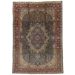 Antique Indian Agra Rug with Cypress Trees