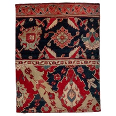 Antique Indian Agra Sampler Rug