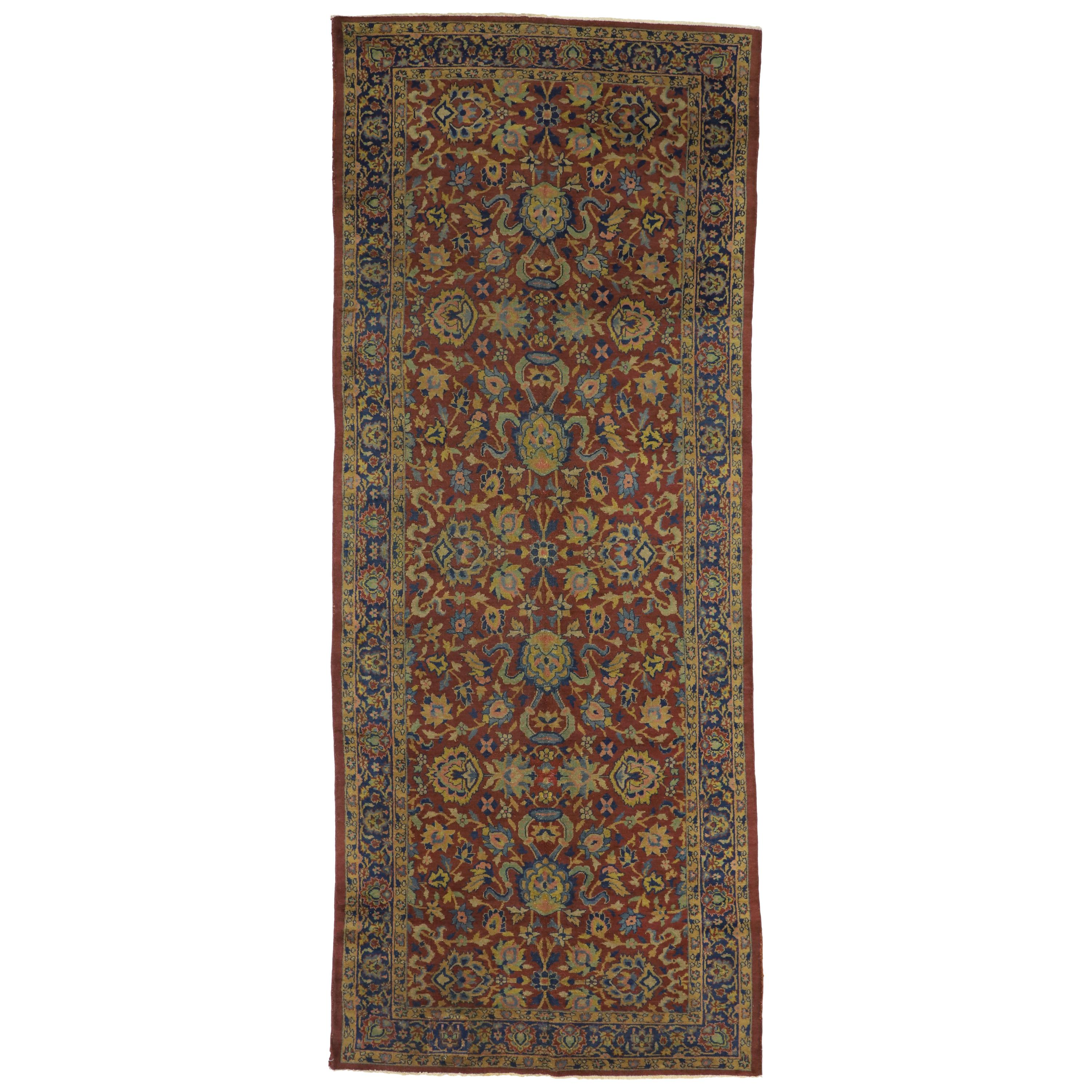 Antique Indian Agra William Morris Inspired Gallery Rug with Arts & Crafts Style