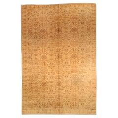 Antique Indian Amritsar Botanic Handmade Wool Rug