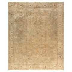Antique Indian Amritsar Camel Handwoven Wool Rug
