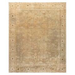 Antique Indian Amritsar Camel Handwoven Wool Rug