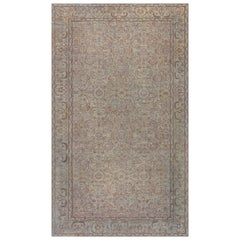 Antique Indian Amritsar Handwoven Wool Rug