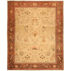 Antique Indian Amritsar Oriental Rug. Size: 10 ft 1 in x 12 ft 9 in