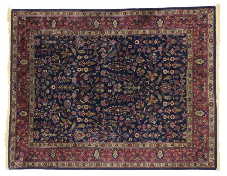 20th Century Antique Indian Area Rug with Modern Victorian Style For Sale