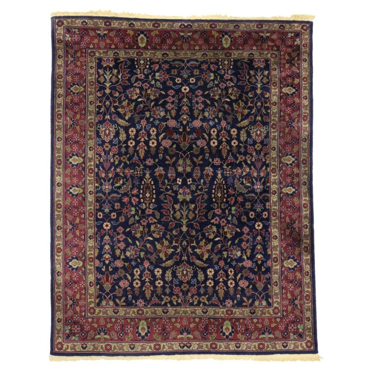 Antique Indian Area Rug with Modern Victorian Style For Sale