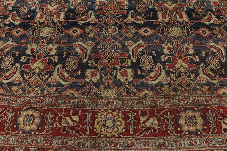 Antique Indian Area Rug with Traditional Victorian Style In Good Condition For Sale In Dallas, TX